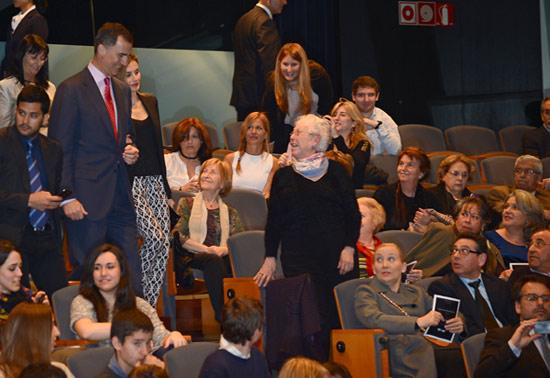 Los Príncipes de Asturias presiden el concierto 'Jóvenes con voz propia' en Barcelona