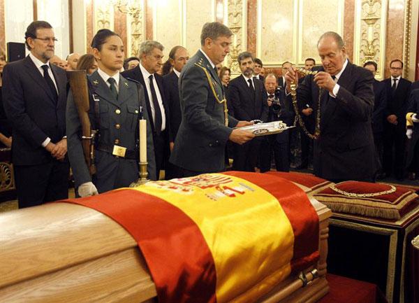 La familia real en el funeral del expresidente Adolfo Suarez Reyes-5-a