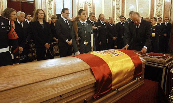 La familia real en el funeral del expresidente Adolfo Suarez Reyes-6-a