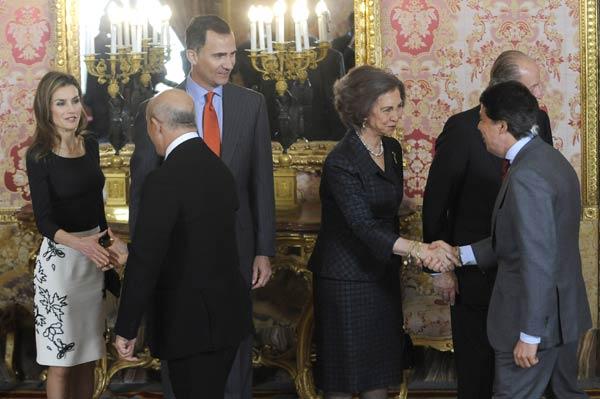 Los Reyes y los Príncipes de Asturias homenajean en el Palacio Real a Elena Poniatowska, Cervantes 2013