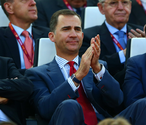 Los Príncipes de Asturias disfrutan de su agenda entre fútbol y monólogos