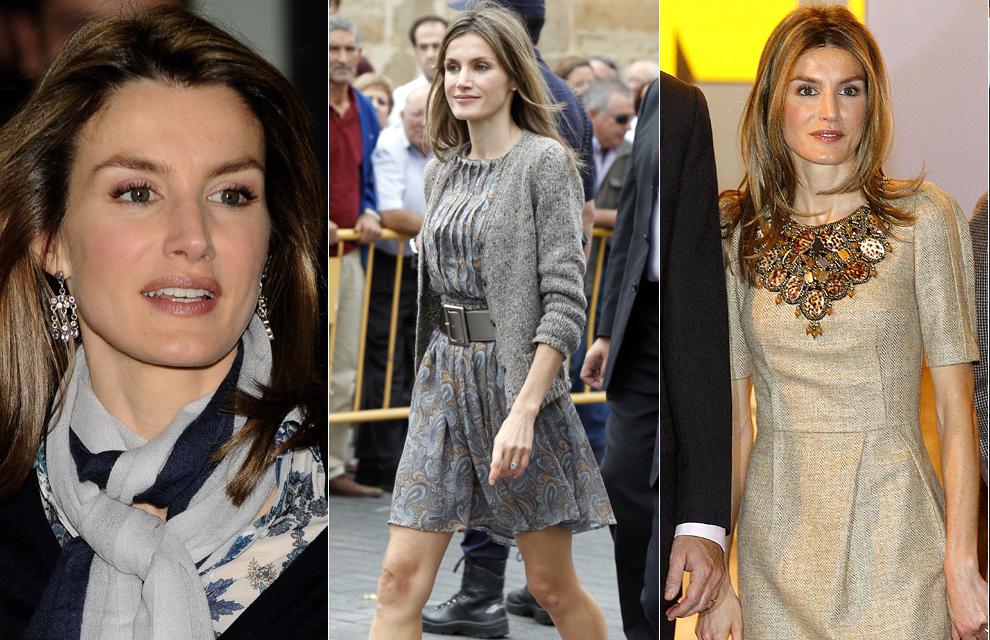 LOS DETALLES IMPORTAN Doña Letizia, Princesa de detalles como es, no se olvida de los complementos y corona sus looks con todo tipo de accesorios fulares