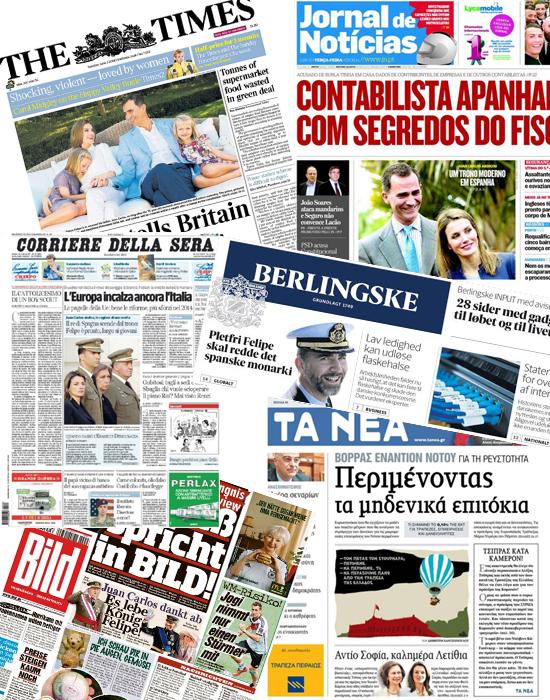 'Un nuevo aire de esperanza': La prensa internacional alaba a don Felipe y doña Letizia