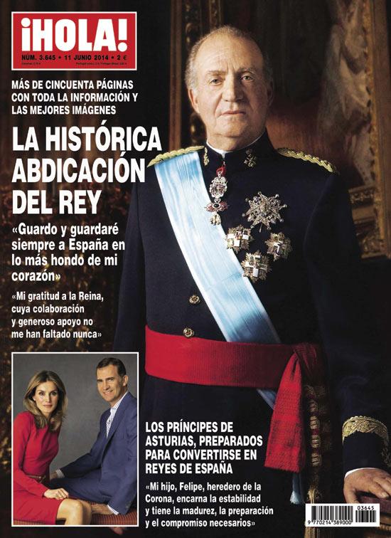 En ¡HOLA!: La histórica abdicación del Rey
