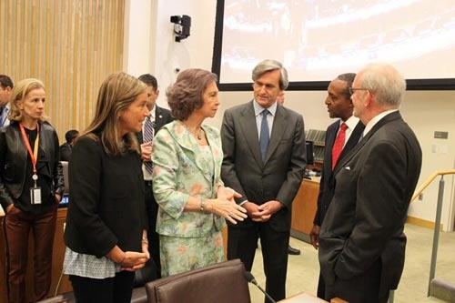 La reina Sofía, en Nueva York: 'Letizia es competente y encantadora, y la quiero mucho'