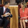 Los Príncipes de Asturias, futuros Reyes de España, asisten a su primer acto oficial juntos tras el anuncio de la abdicación