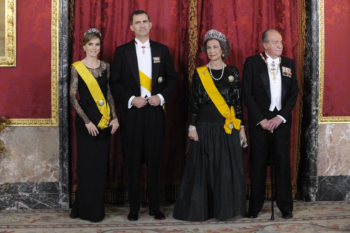 Cena de gala en el palacio real en honor del presidente de - Casa de los reyes de espana ...