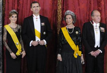 Cena de gala en el Palacio Real en honor del Presidente de México