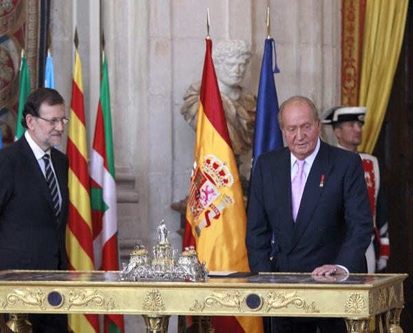 El rey Juan Carlos pone fin a su reinado con una solemne ceremonia de abdicación