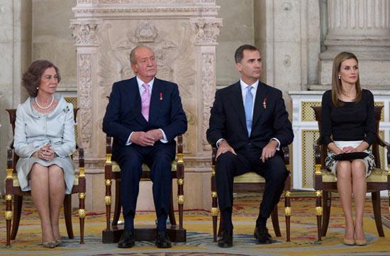 Los cuatro Reyes, juntos tras la proclamación en una misa privada