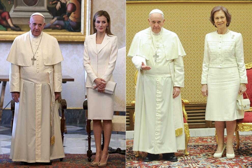 Las Reinas frente al Papa Francisco