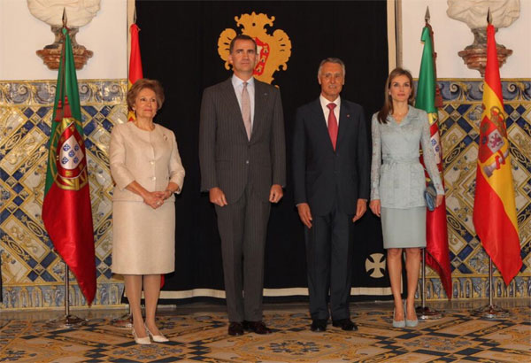 Reyes de España y Presidente de Portugal