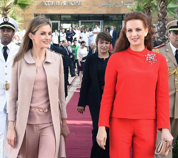 La Reina Letizia y Lalla Salma, elegancia y complicidad en Rabat