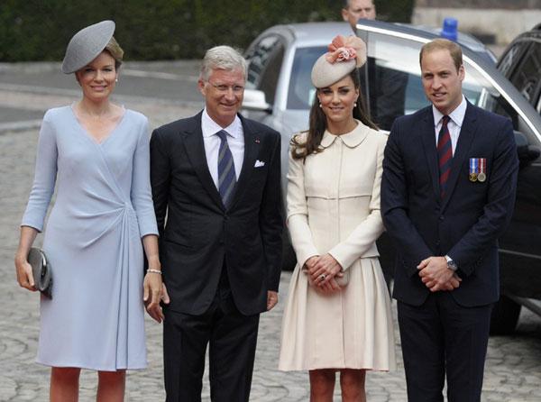Reyes de los belgas y Duques de Cambridge