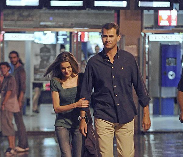 Don Felipe y doña Letizia disfrutan de la noche mallorquina