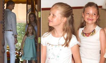 La espontaneidad y la formalidad de la Princesa de Asturias y la infanta Sofía en sus dos posados oficiales en Mallorca