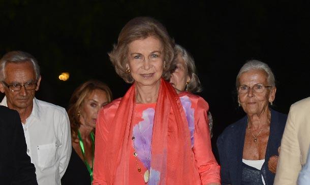 Doña Sofía disfruta de una velada musical en Mallorca