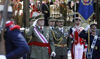 Almuerzo homenaje de la cúpula militar al rey Juan Carlos