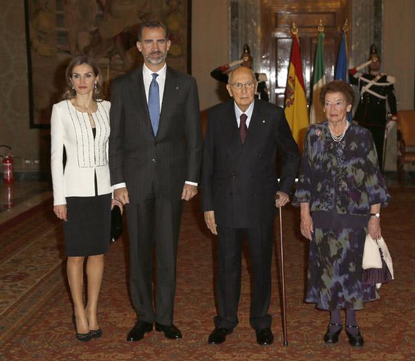Los Reyes cumplen cinco meses de reinado en su viaje oficial a Italia
