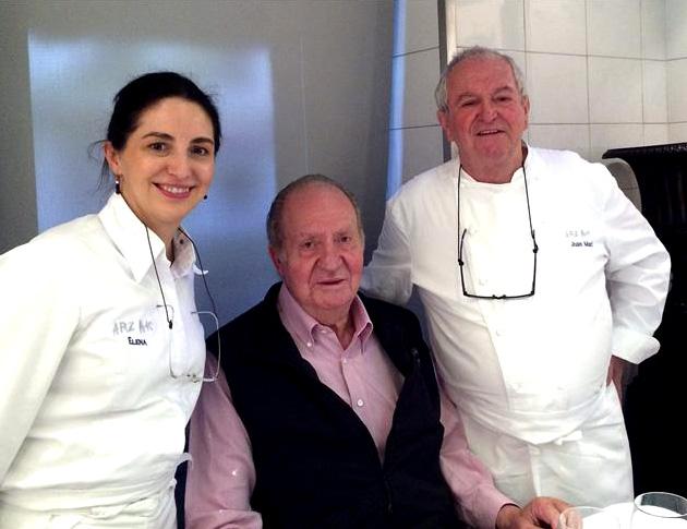 El rey Juan Carlos disfruta de la cocina de Juan Mari Arzak