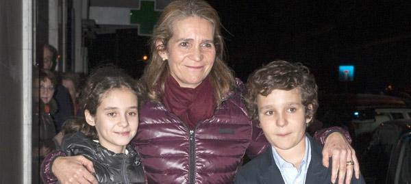 La infanta Elena celebra hoy con sus hijos su 51 cumpleaños, el primero fuera de la Familia Real