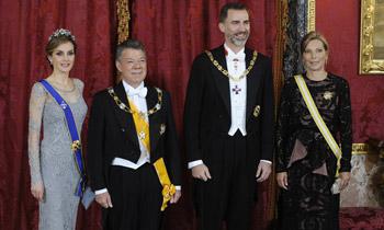 Cena de gala en el Palacio Real en honor al Presidente de Colombia