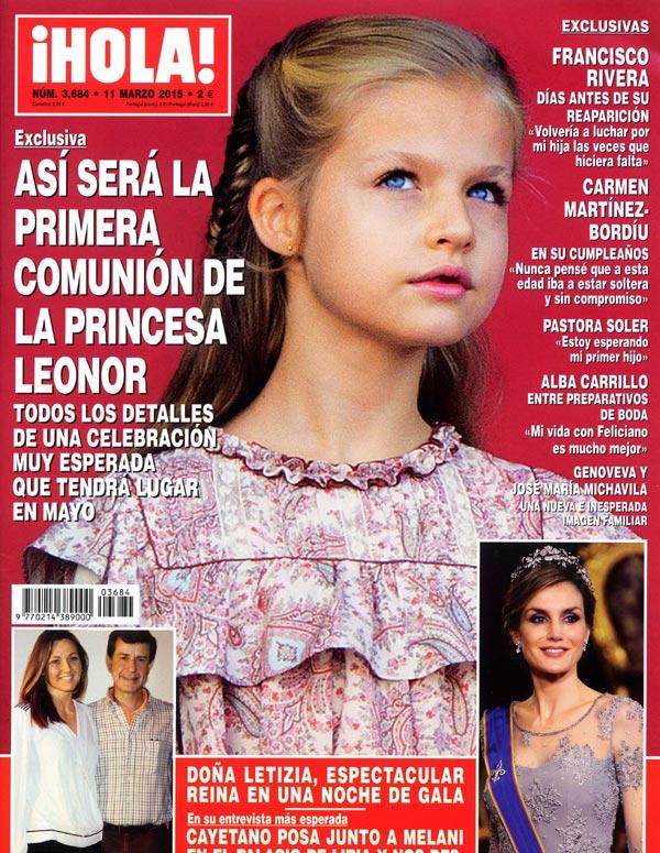 ¡HOLA! desvela en exclusiva cómo será la Primera Comunión de la princesa Leonor