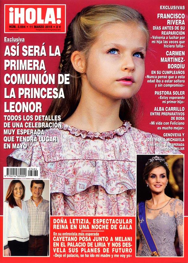 La Casa del Rey confirma la información publicada por ¡HOLA! sobre la Primera Comunión de la princesa Leonor