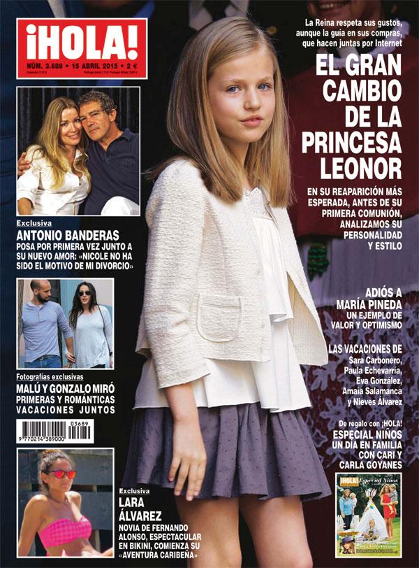 En ¡HOLA!, el gran cambio de la princesa Leonor en su reaparición más esperada