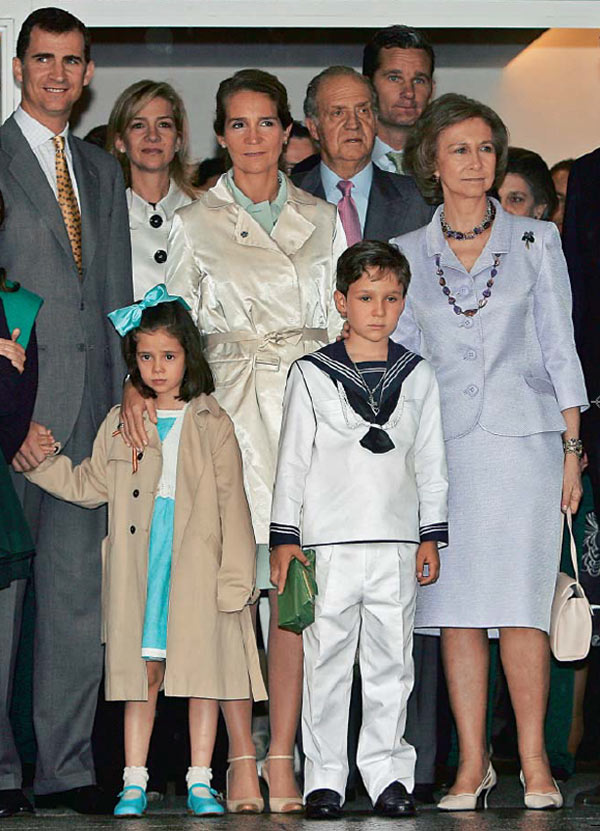 Así fueron las comuniones de los primos de la princesa Leonor