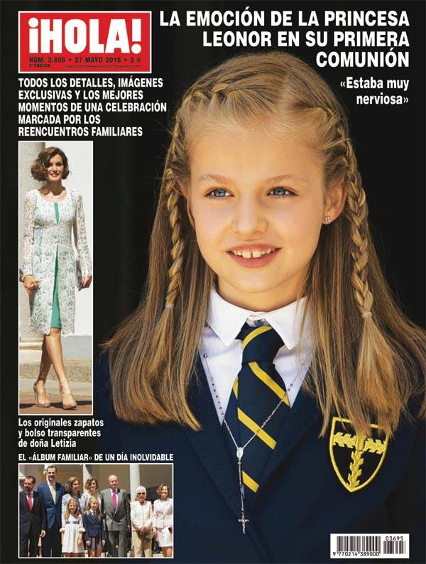 ¡HOLA! pone a la venta el número con todos los detalles y fotografías exclusivas de la primera comunión de la princesa Leonor