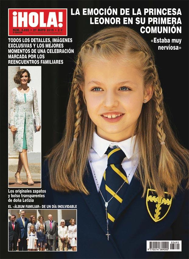 Exclusiva en ¡HOLA!: Las imágenes de la infanta Cristina y su hija Irene llegando a España para la primera comunión de la princesa Leonor