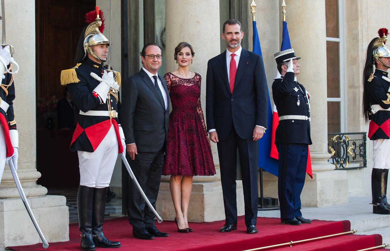 Cena de gala en el Palacio del Elíseo en honor a don Felipe y doña Letizia