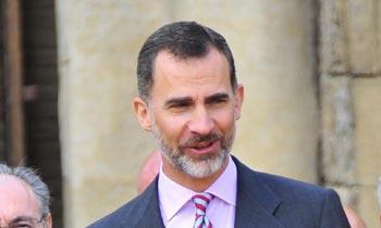 Don Felipe ha continuado su agenda prevista, sin comentar la revocación del título de Duquesa a su hermana