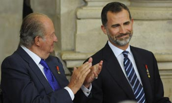 El sentido gesto de don Felipe a su padre y su abuelo en el día de San Juan