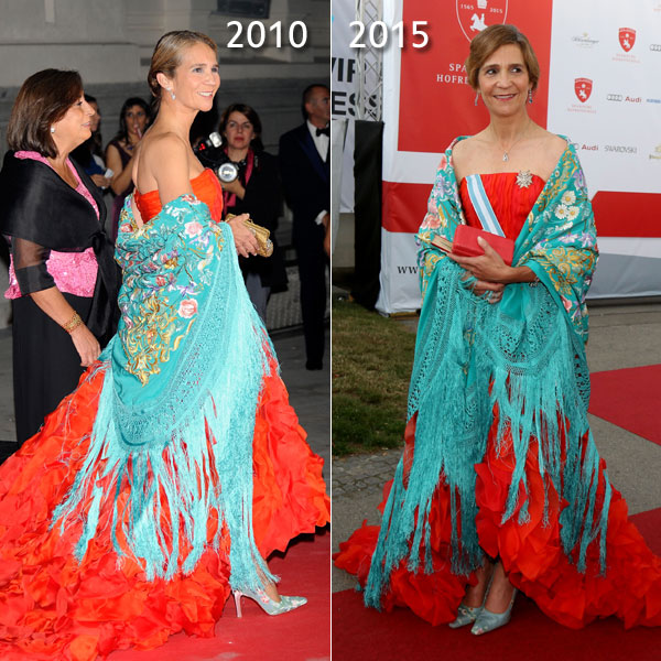 Cinco años después... la infanta Elena repite su 'look' más español