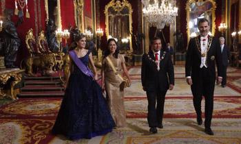 Cena de gala en el Palacio Real en honor del Presidente de Perú