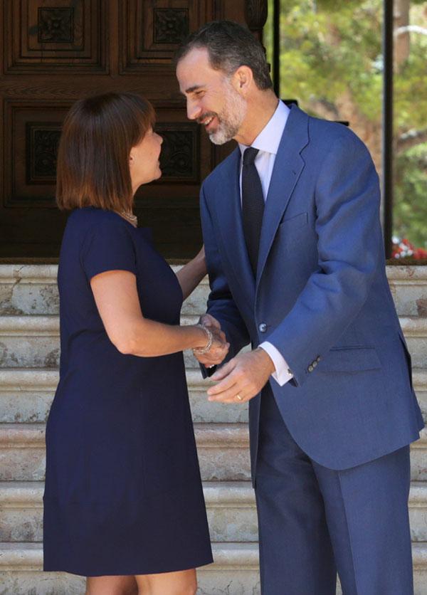 El Rey inaugura las vacaciones reales en Palma, mientras se espera la llegada de la Reina
