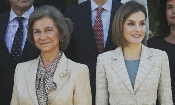 La reina Sofía y la reina Letizia vuelven a poner de manifiesto que las causas de la una son las causas de la otra