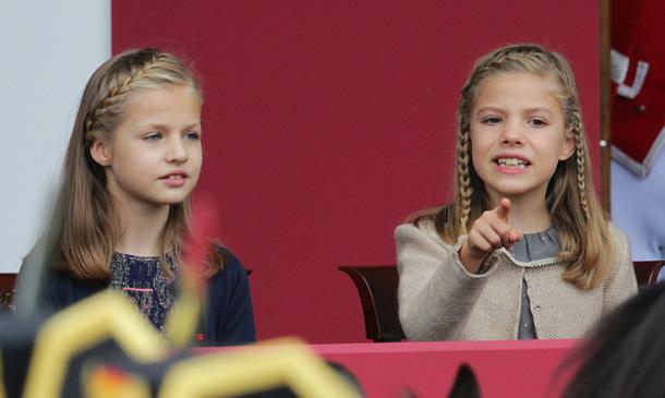 Así han vivido la princesa Leonor y la infanta Sofía el desfile