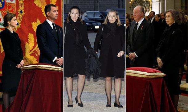 Los cuatro Reyes acuden al funeral de don Carlos de Borbón-Dos Sicilias, último infante de España