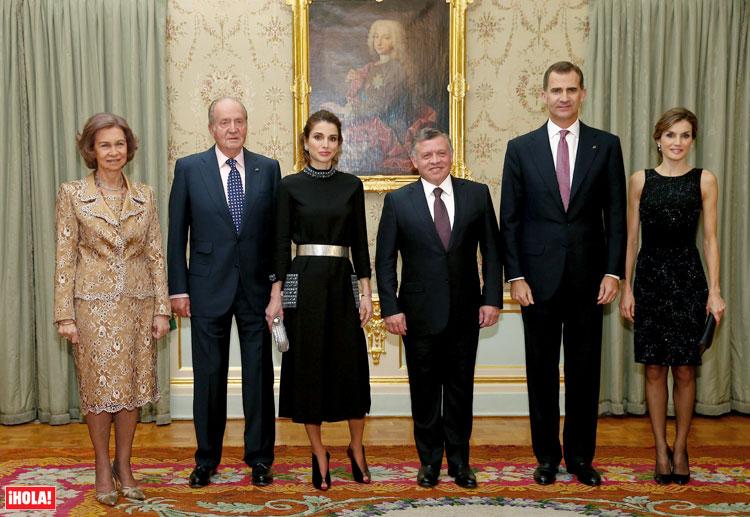 Seis reyes de cena privada en el Palacio de El Pardo