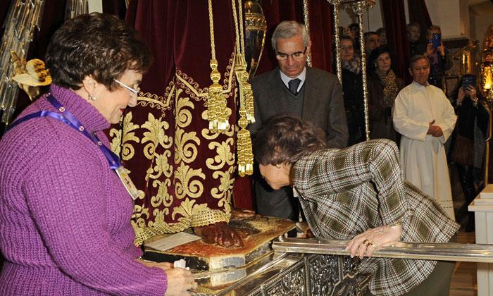 La tradición del Cristo de Medinaceli nos devuelve a la reina Sofía tras varios meses de ausencia