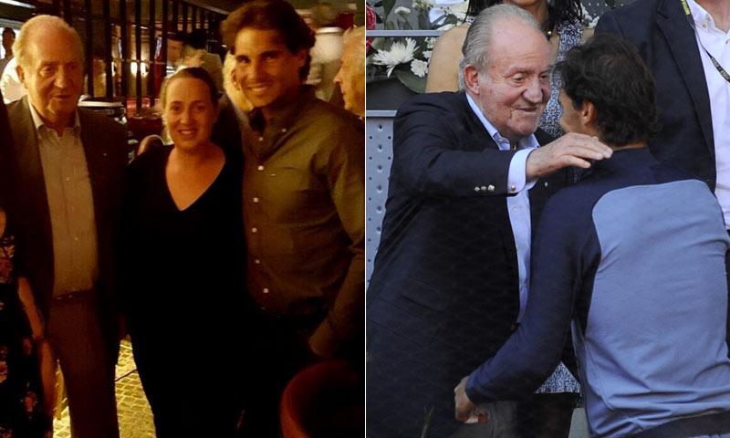 Don Juan Carlos y Rafa Nadal cenaron juntos en el restaurante del tenista