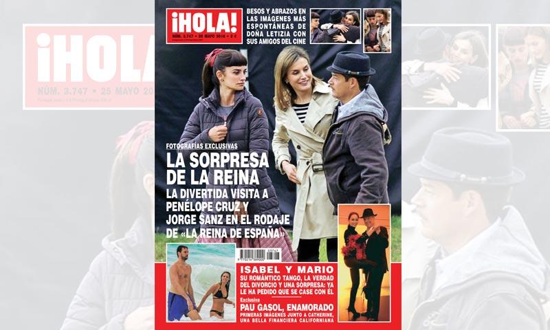 En ¡HOLA!, imágenes exclusivas de la sorpresa de la reina Letizia a los actores de 'La reina de España'