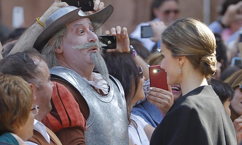 El encuentro de los Reyes con Don Quijote y Sancho Panza