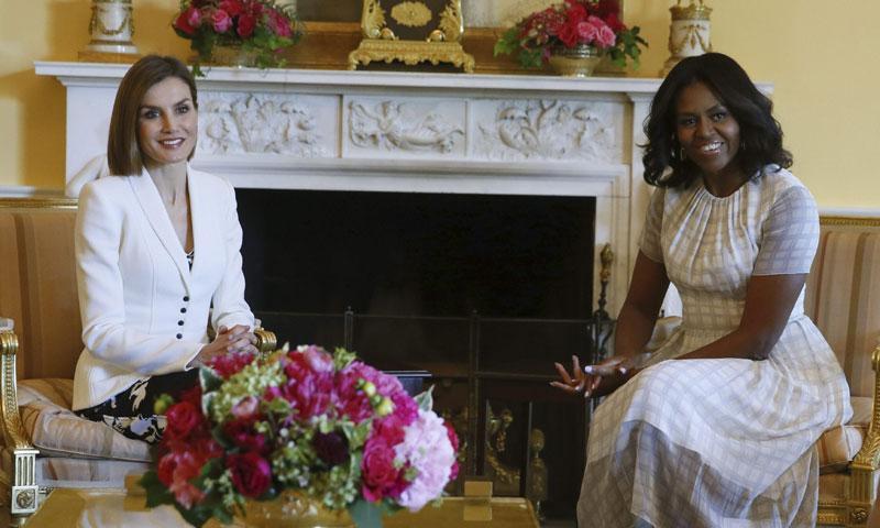Michelle Obama visitará España a fin de mes y se reunirá con la reina Letizia