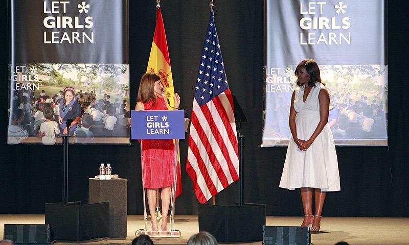 La reina Letizia y Michelle Obama unen fuerzas en pos de una educación universal