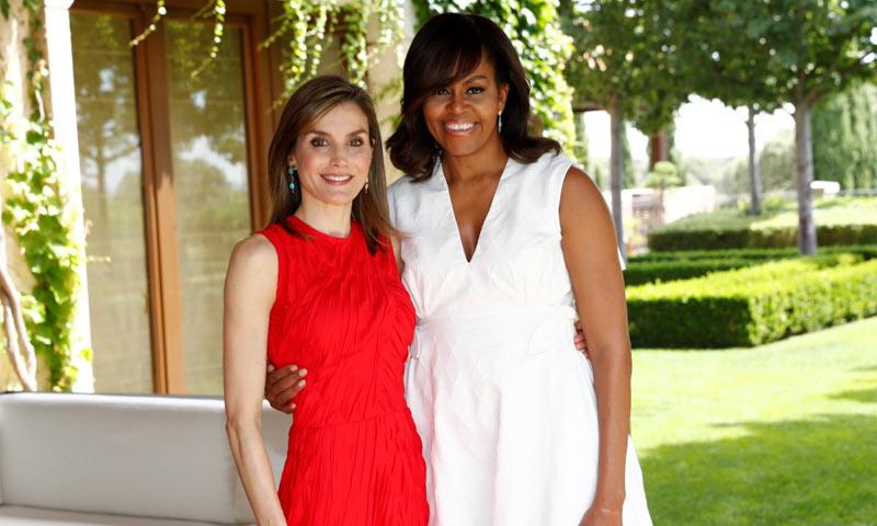 El día que la princesa de Asturias y la infanta Sofía conocieron a Michelle Obama