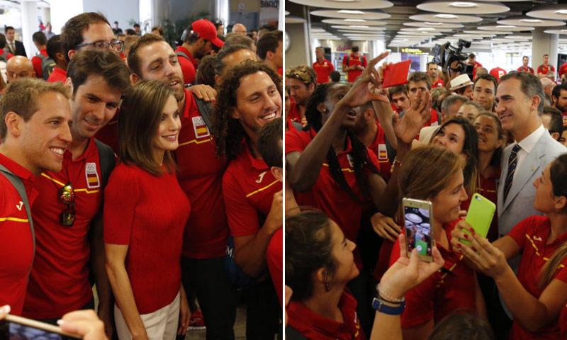 Los Reyes desean 'mucho ánimo y muchos éxitos' al 'gran equipo de España' en su partida a Río de Janeiro 2016